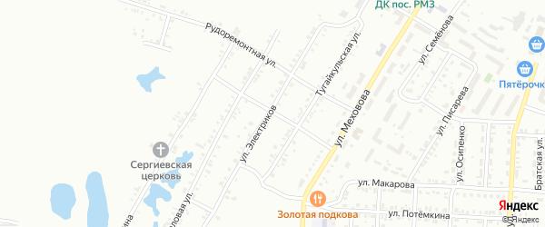 Рудоремонтная 2-я улица на карте Копейска с номерами домов