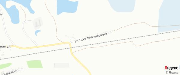 Улица Пост 13-й километр на карте Копейска с номерами домов