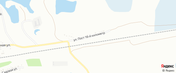 Улица Пост 16-й километр на карте Копейска с номерами домов