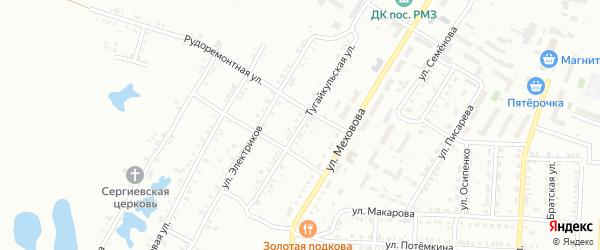 Тугайкульская улица на карте Копейска с номерами домов