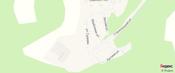 Улица Гуреева на карте поселка Дубровки с номерами домов