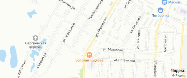 Улица Меховова на карте Копейска с номерами домов