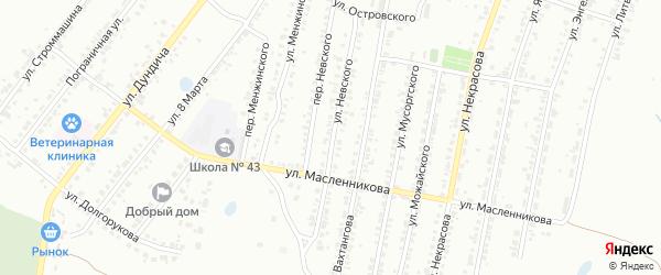 Улица Невского на карте Копейска с номерами домов