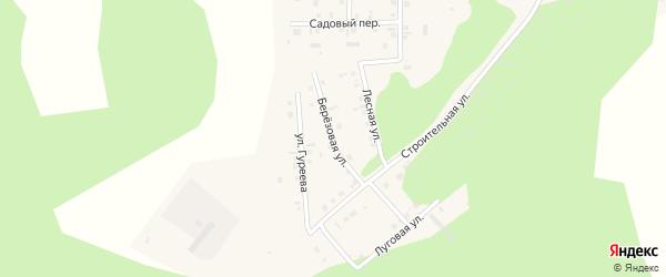 Берёзовая улица на карте поселка Дубровки с номерами домов