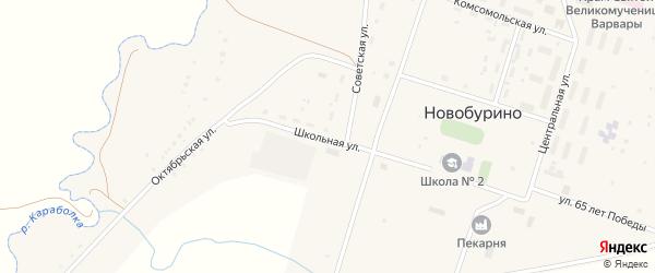 Школьная улица на карте села Новобурино с номерами домов