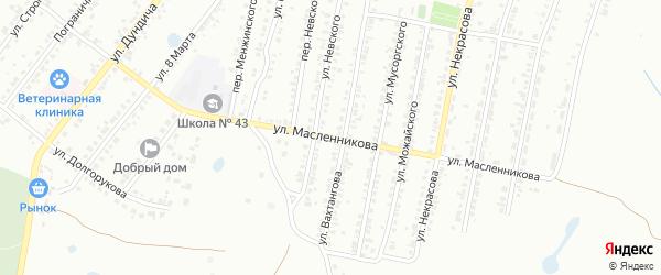 Улица Масленникова на карте Копейска с номерами домов