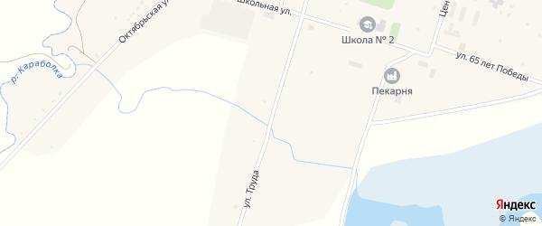 Улица Труда на карте села Новобурино с номерами домов