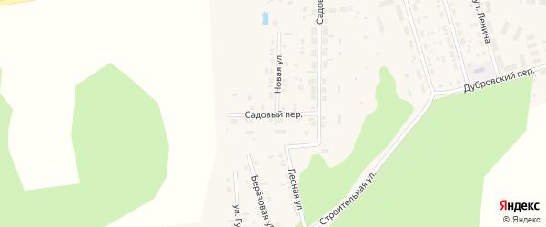 Садовый переулок на карте поселка Дубровки с номерами домов