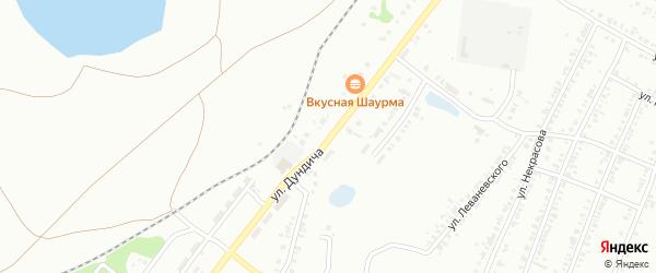 Улица Дундича на карте Копейска с номерами домов