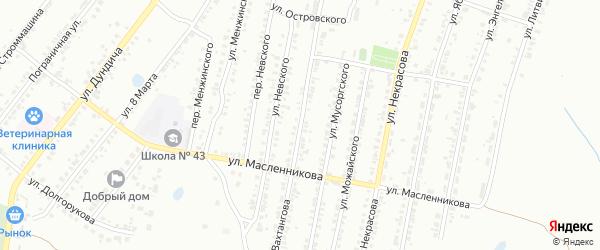 Улица Вахтангова на карте Копейска с номерами домов