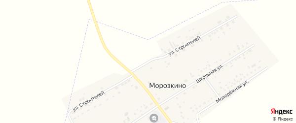 Улица Строителей на карте поселка Морозкино с номерами домов