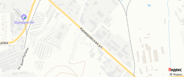 Кемеровская улица на карте Челябинска с номерами домов