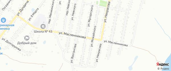 Улица Мусоргского на карте Копейска с номерами домов