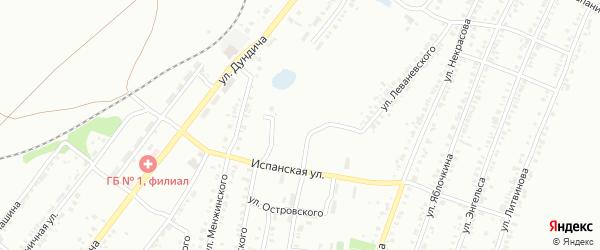 Испанский переулок на карте Копейска с номерами домов