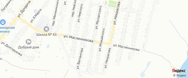 Улица Мусоргского на карте Челябинска с номерами домов