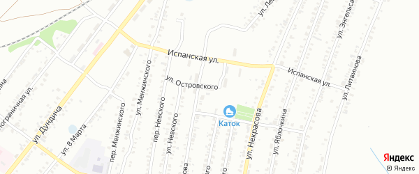 Улица Островского на карте Копейска с номерами домов
