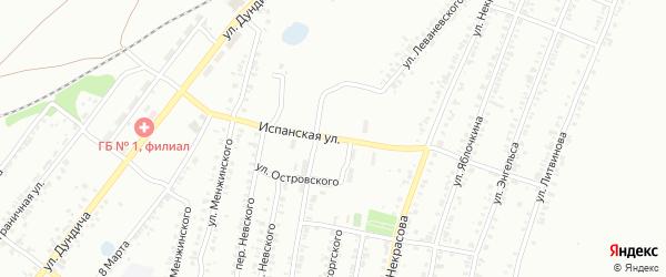 Испанская улица на карте Копейска с номерами домов