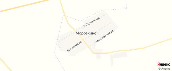 Карта поселка Морозкино в Челябинской области с улицами и номерами домов