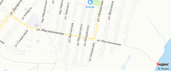 Улица Пожарского на карте Копейска с номерами домов