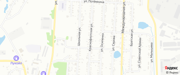 Краснофлотская улица на карте Копейска с номерами домов