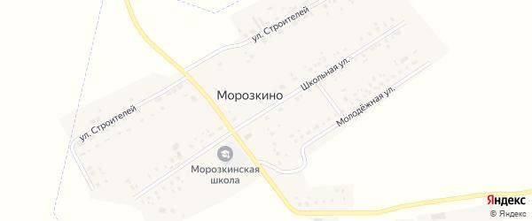Школьная улица на карте поселка Морозкино с номерами домов