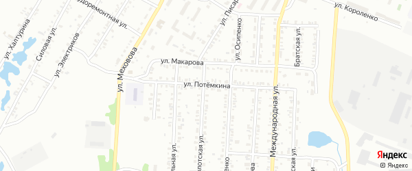 Улица Потемкина на карте Копейска с номерами домов