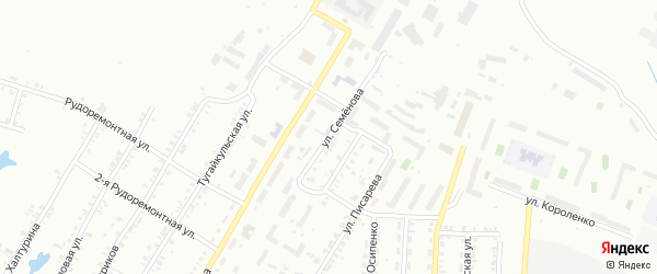 Улица Семенова на карте Копейска с номерами домов