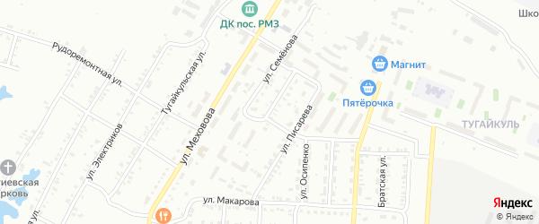 Кыштымская улица на карте Копейска с номерами домов