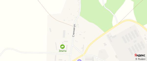 Степная улица на карте поселка Дубровки с номерами домов