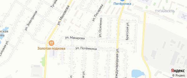 Улица Макарова на карте Копейска с номерами домов