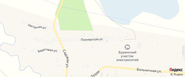 Пионерская улица на карте села Новобурино с номерами домов