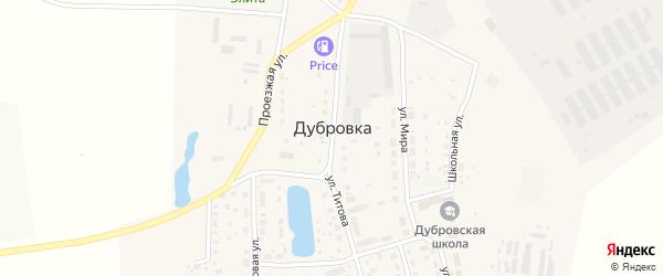 Прудовая улица на карте поселка Дубровки с номерами домов