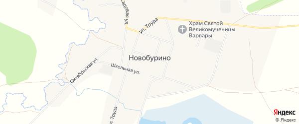 Карта села Новобурино в Челябинской области с улицами и номерами домов