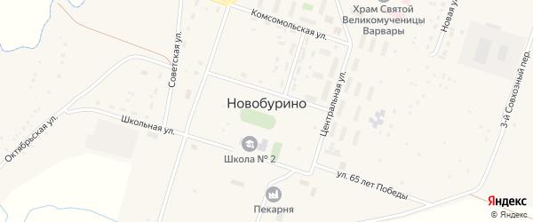 Окружная улица на карте села Новобурино с номерами домов