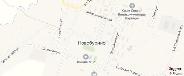 Спортивная улица на карте села Новобурино с номерами домов