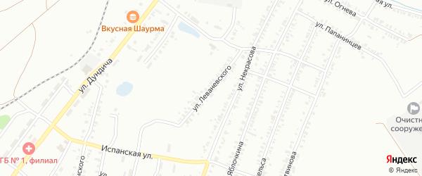 Улица Леваневского на карте Копейска с номерами домов