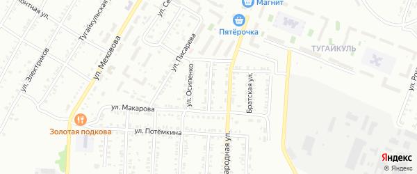 Депутатская улица на карте Копейска с номерами домов