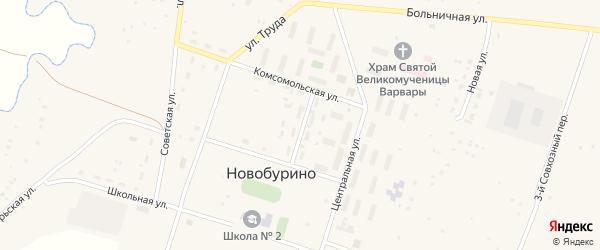 Молодежная улица на карте села Новобурино с номерами домов