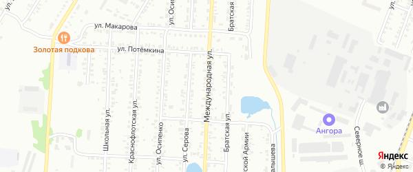 Международная улица на карте Копейска с номерами домов