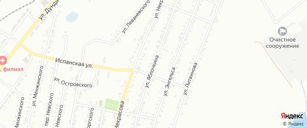 Улица Яблочкина на карте Копейска с номерами домов