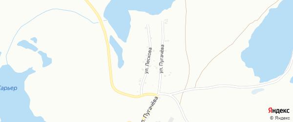 Улица Лескова на карте Копейска с номерами домов