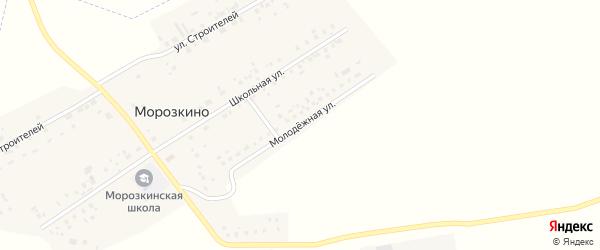 Молодежная улица на карте поселка Морозкино с номерами домов