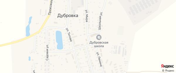 Улица Мира на карте поселка Дубровки с номерами домов