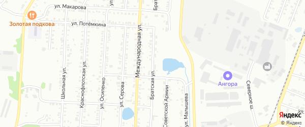 Братская улица на карте Копейска с номерами домов