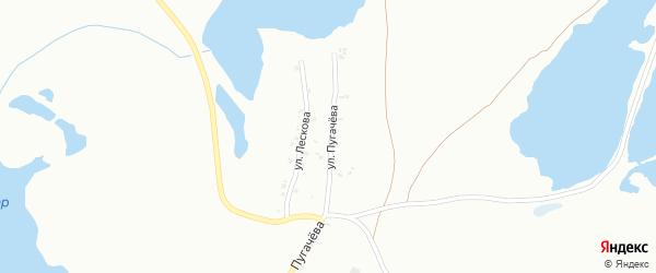 Улица Пугачева на карте Копейска с номерами домов