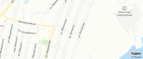 Улица Энгельса на карте Копейска с номерами домов