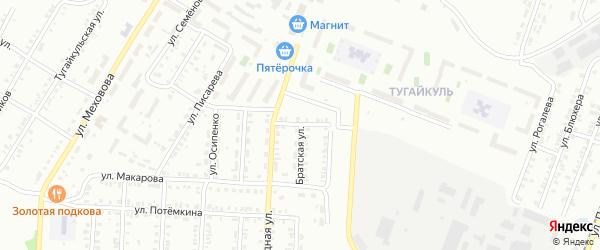 Депутатский переулок на карте Копейска с номерами домов