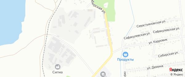 Красноярская улица на карте Копейска с номерами домов