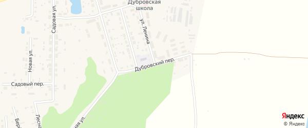 Дубровский переулок на карте поселка Дубровки с номерами домов