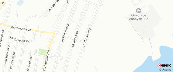 Улица Литвинова на карте Копейска с номерами домов